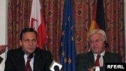 Міністри закордонних справ Польщі та Німеччини Радослав Сікорський та Франк-Вальтер Штайнмаєр, Київ, 17 чернвя 2009 р.