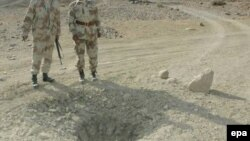 File photo of a mine attack in Balochistan.