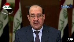 Outgoing Iraqi Primi Minister Nuri al-Maliki (TV screen-grab)