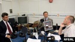 Nemtsov and Ryzhkov in RFE/RL's Studio With Mikhael Sokolov
