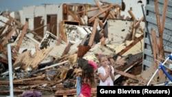 Pamje e shkatërrimeve në Okllahoma