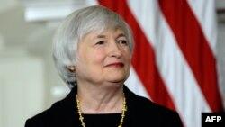 АҚШ федералдық резервтер жүйесінің басшысы Джанет Йеллен. Вашингтон, 9 қазан 2013 жыл.