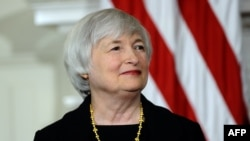 Economist Janet Yellen as she appeared for her nomination to the top Fed job in October by U.S. President Barack Obama