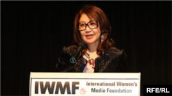 RFE/RL Kazakh Service correspondent Saniya Toiken (file photo)