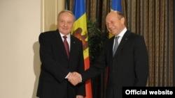Președinții Nicolae Timofti și Traian Băsescu, 19 martie 2014.