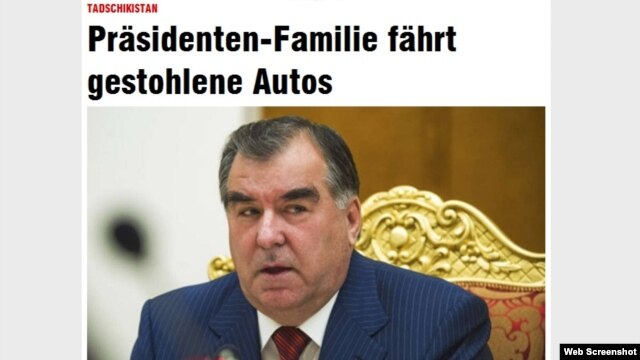 "The German daily ""Bild"" reported that most of the stolen cars are now owned by people connected to President Emomali Rahmon."