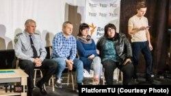 Слева – направо: Николай Побойный, Петр Андрющенко, Инна Юрьева и Марина Пугачева