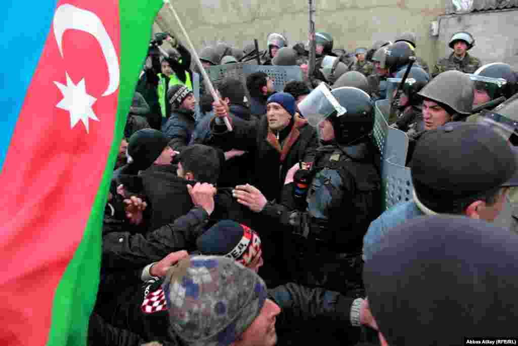 Azerbaijan -- Clashes in Guba, 01Mar2012