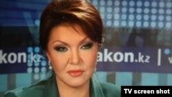Фотскриншот с сайта Закон.кз во время онлайн конференции Дариги Назарбаевой в бытность кандидатом в депутаты в мажилис парламента. Алматы, 12 января 2012 года.
