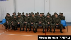 Sa ispraćaja vojnika u misiju u Afganistan, Čapljina, decembar 2014. foto: Mirsad Behram