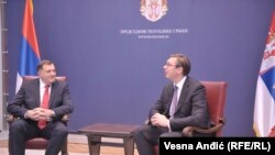 Milorad Dodik i Aleksandar Vucic