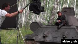 Imagine din timpul filmărilor