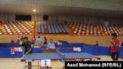 جانب من بطولة اندية العراق بكرة تنس الطاولة
