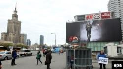 """Акция в поддержку активистов """"Гринпис"""" в Варшаве"""