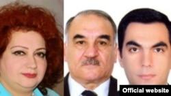 Слева направо - Ирада Гусейнова, Искендер Искендеров и Эльмар Гасымов