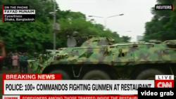 پلیس می گوید، عملیات کماندوها برای آزاد سازی گروگان ها آغاز شده است.