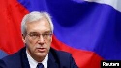 Олександр Грушко на прес-конференції після засідання Ради НАТО – Росія, Брюссель, 13 липня 2016 року