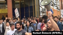Protest u Novom Sadu, 4. april 2017.