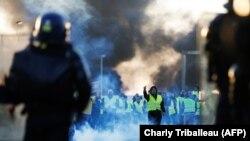 Акции протеста во Франции.