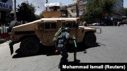 Owganystanyň polisiýa wekili, Kabul, 31-nji iýul, 2017