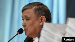 Жаңаөзен оқиғасына қатысты өтіп жатқан соттың судьясы Аралбай Нағашыбаев. Ақтау, 27 наурыз 2012 жыл.