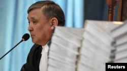 Судья по делу о событиях в Жанаозене Аралбай Нагашыбаев. Актау, 27 марта 2012 года.