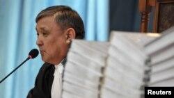 """Аралбай Нагашыбаев, судья по делу """"о беспорядках в Жанаозене"""". Актау, 27 марта 2012 года."""