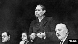 Максим Горький на Совещании советских писателей, 1935 г