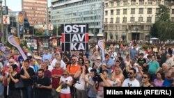 Arhivska fotografija protest u Beogradu
