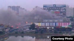 The fire at the Ostankino television studios forced the evacuation of 1,200 people.