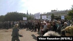 Митинг преподавателей и студентов СПбГУ, 22 мая 2016 года