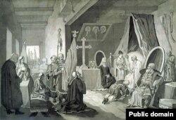 «Смерть Богдана Хмельницького» (1836–1837)
