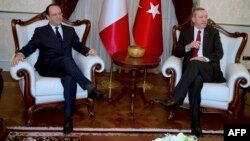 Francois Hollande və Recep Tayyip Erdogan