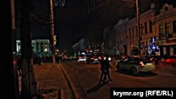 В новогоднюю ночь уличное освещение в Симферополе оставляло желать большего