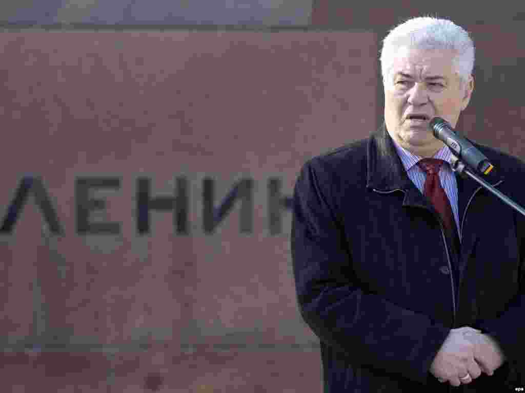Выступление президента Молдавии Владимира Воронина в Кишиневе на митинге по случаю дня рождения Ленина