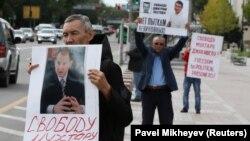 Акция протеста в Алма-Ате, 10 сентября 2019 года.