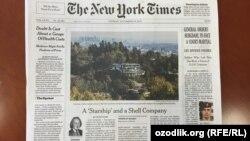 Статья об американском архитекторе и его работах, купленных иностранными сверхбогачами, была опубликована15 декабря на первой полосе The New York Times