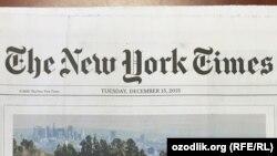 Скриншот газеты New York Times.