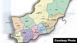 نقشه استان گلستان