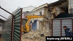 Симферополь, строительство на улице Пушкина