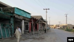 A deserted market in North Waziristan.