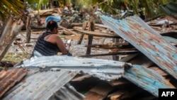 Prizor nakon udara uragana Eta, 5. novembar, Nikaragva