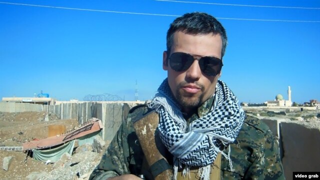 American Jordan Matson has fought in northeastern Syria alongside the Kurdish People's Protection Units (YPG).