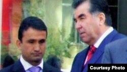 Зайд Саидов пен Тәжікстан президенті Эмомали Рахмон.
