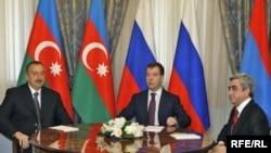 Трехсторонняя встреча президентов России, Армении и Азербайджана в Сочи. 25 января 2010 г.
