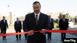 Президент Ильхам Алиев открывает Олимпийский центр в Товузе