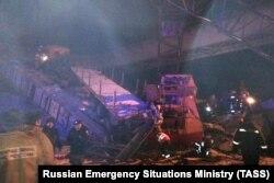 Обрушение моста в Нефтеюганске