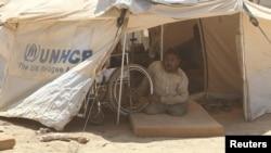 Иорданияның Мафрак қаласындағы лагерде отырған сириялық босқын. 29 тамыз 2012 жыл.