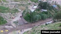 Разрушена и дорога ведущая к кишлаку Марзич