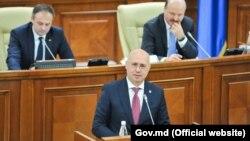 Premierul Pavel Filip în Parlament